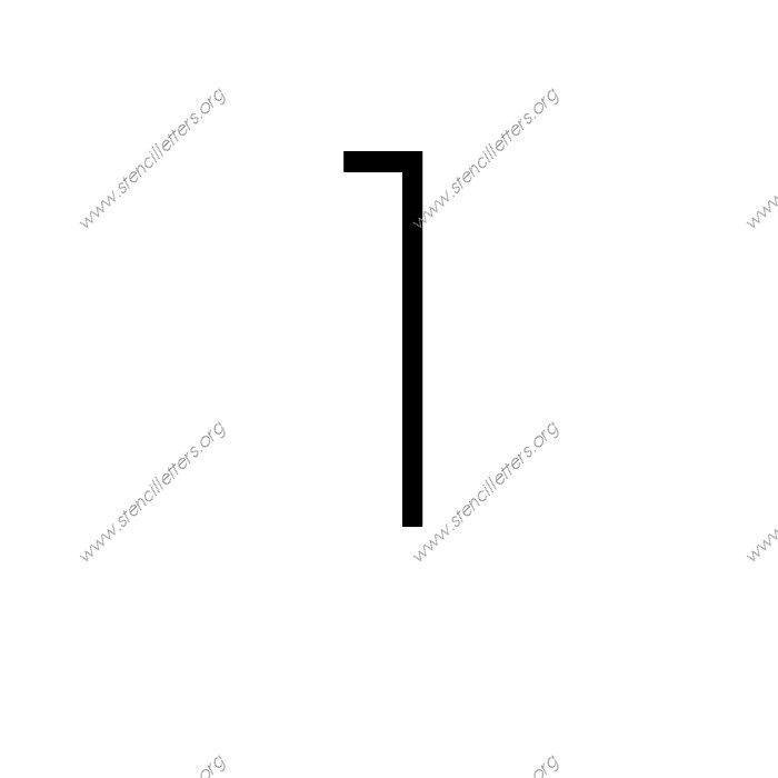 Thin Stylish Number Stencil