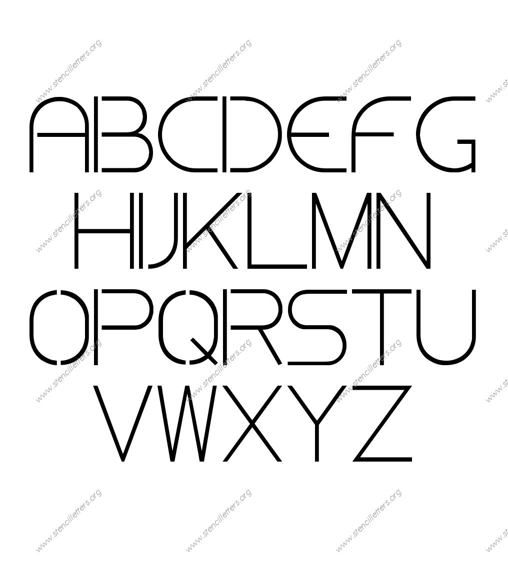 Thin Stylish Stencil Letter Set