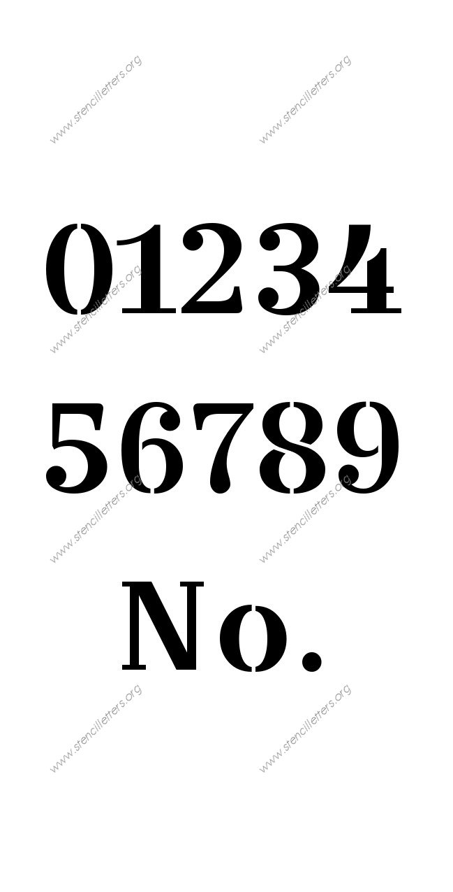 Wedding Script Number Stencils 0 To 9 Stencil Letters Org