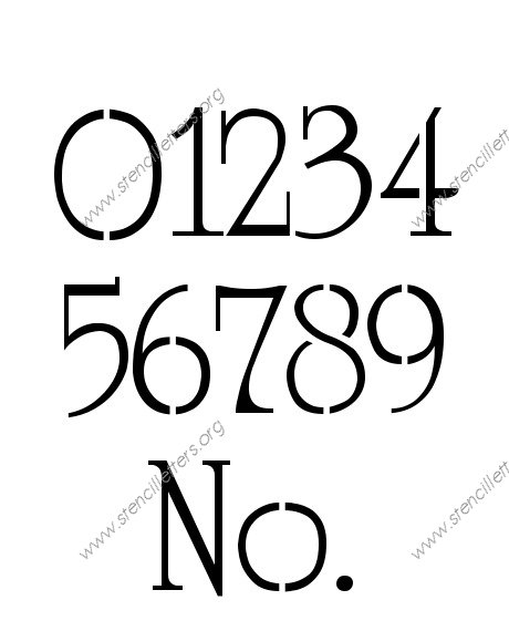 Grandiose Elegant 0 to 9 number stencils