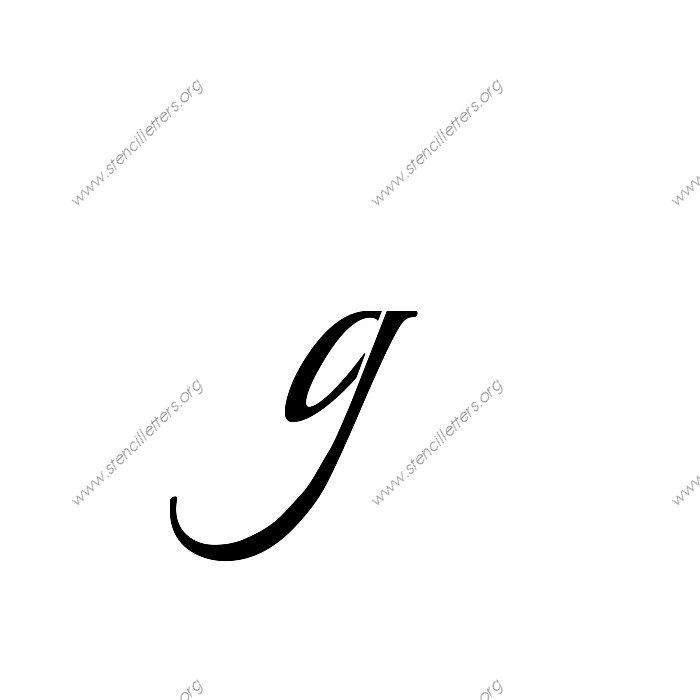 1 12inch Stencils 113 Formal Lowercase Stencil Letter
