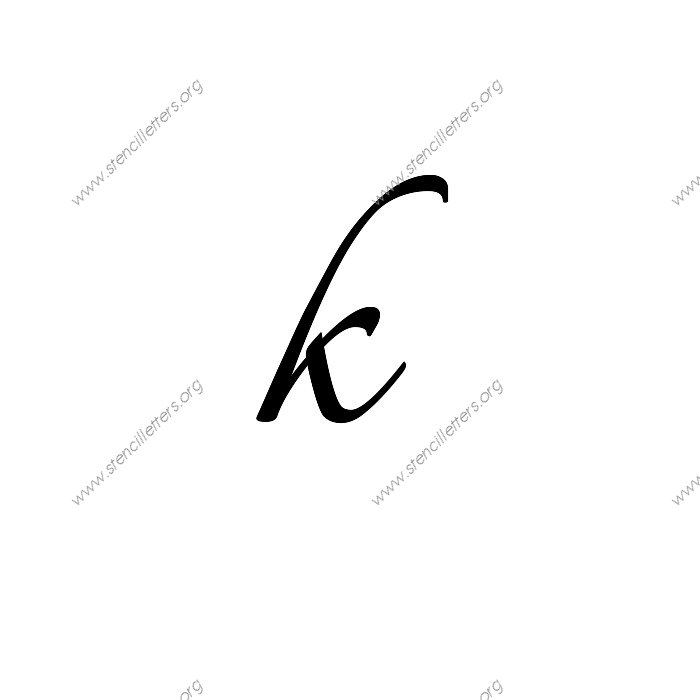 Connected calligraphy uppercase lowercase letter