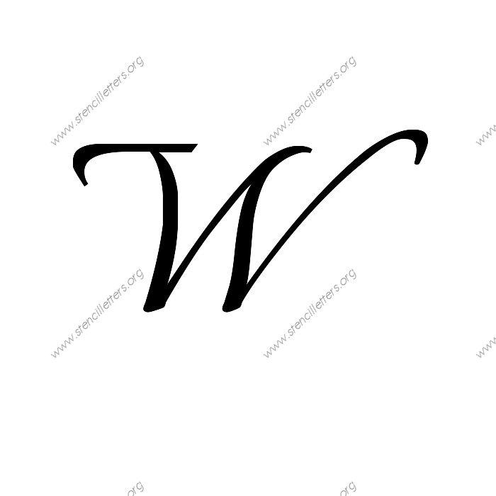 1 12inch Stencils 113 Formal Uppercase Stencil Letter