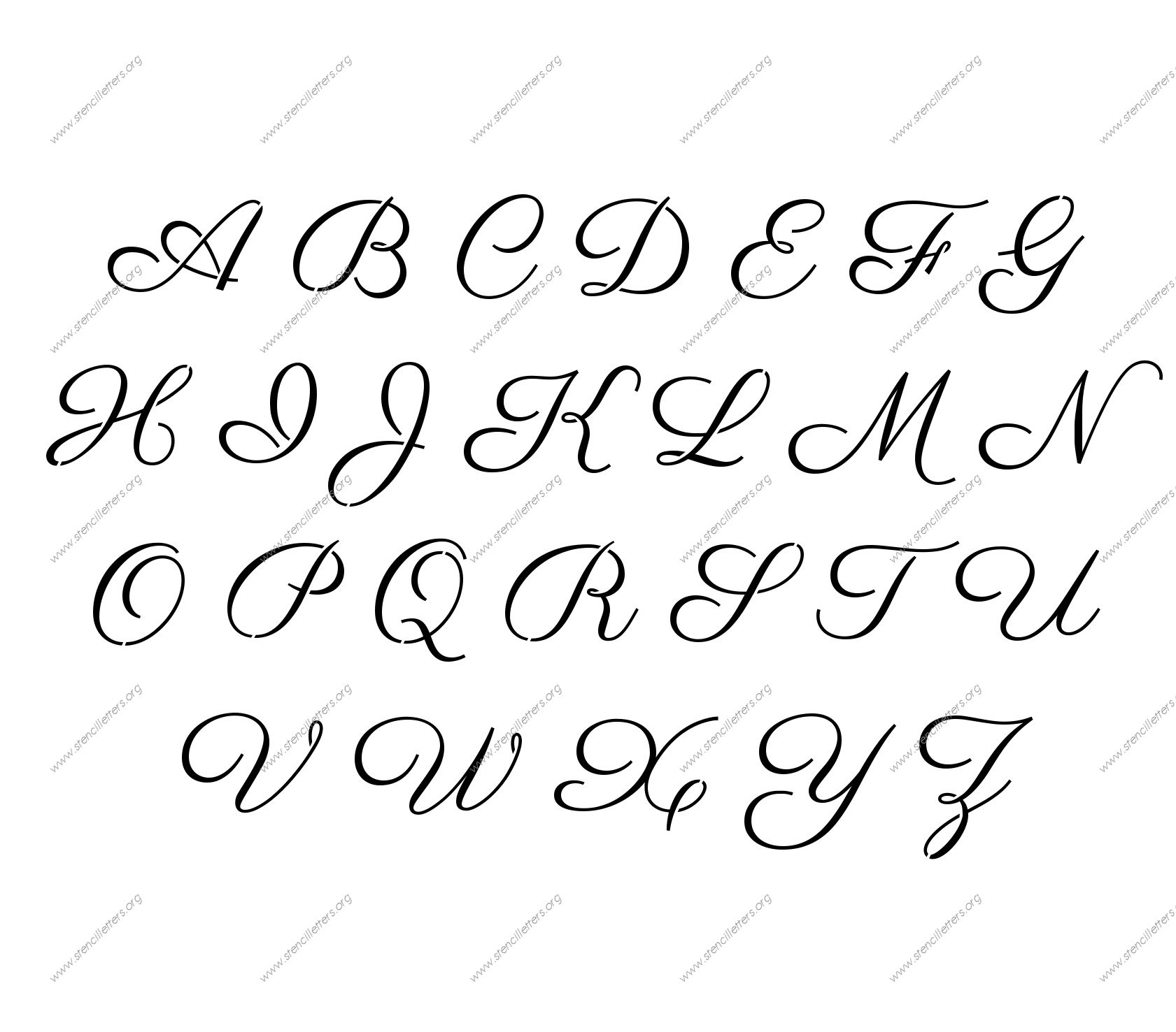 This is an image of Clean Printable Calligraphy Letters