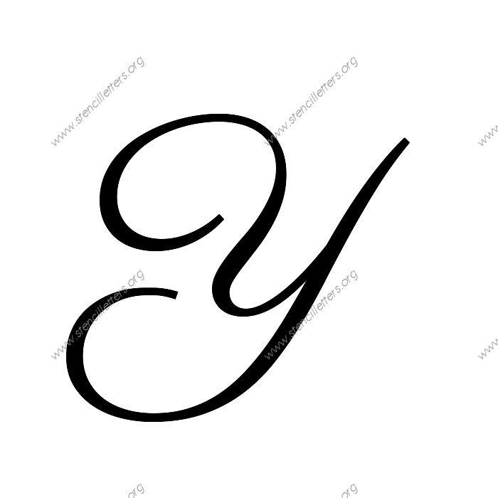 Calligraphy Uppercase Y 1960s calligraphy uppercase & lowercase letter ...