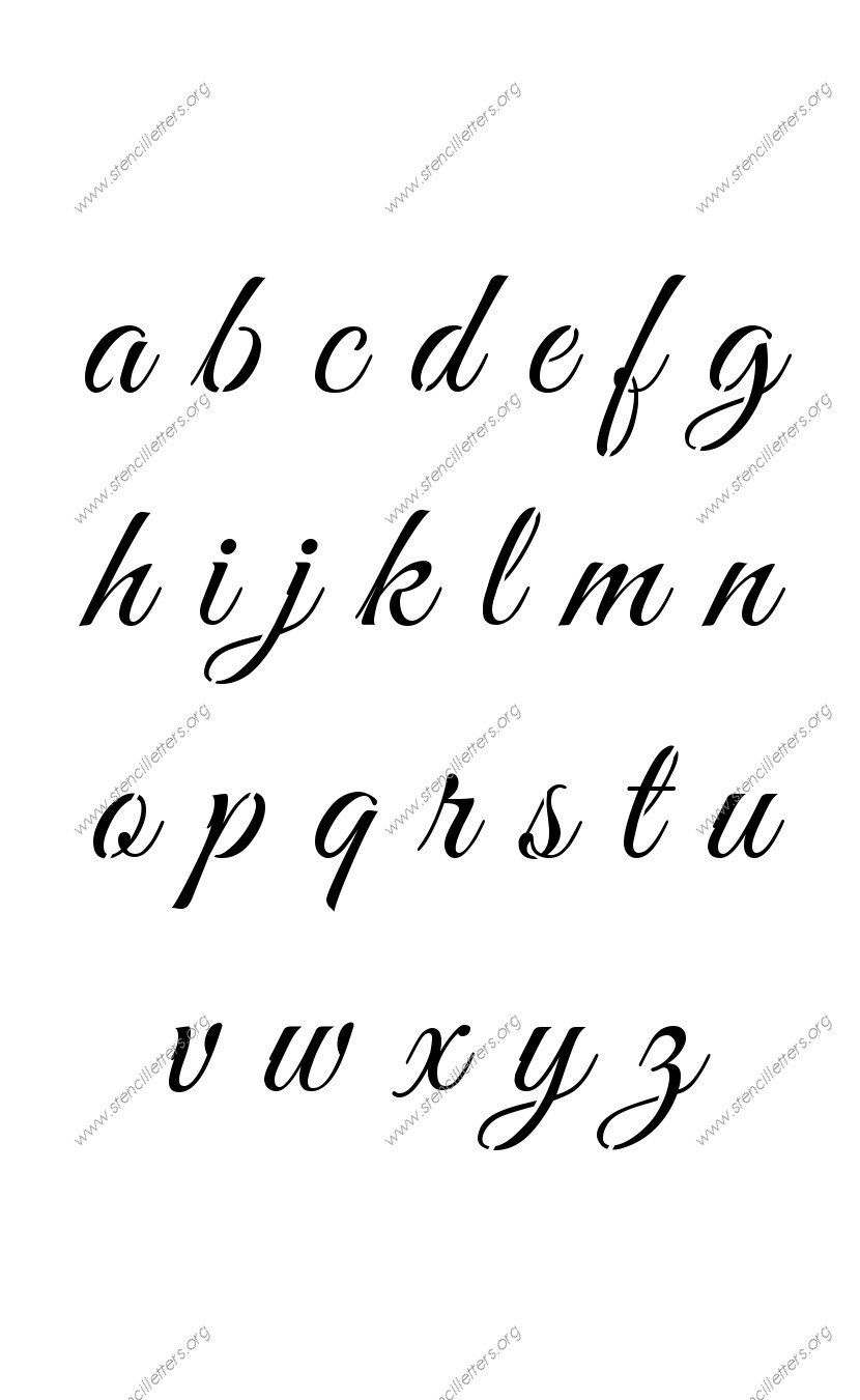 Fancy Font Alphabet Lower Case Worksheets Tutsstar