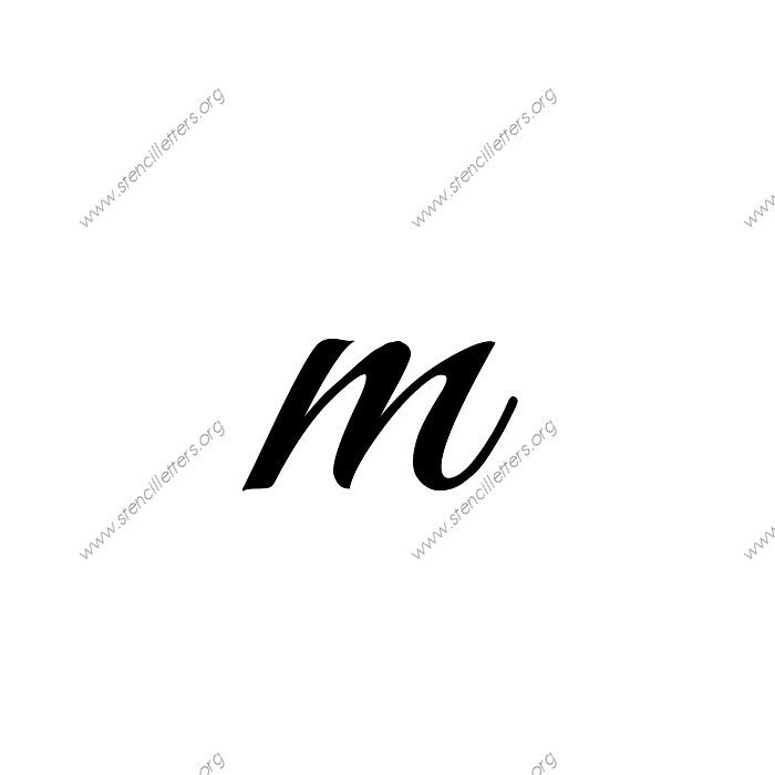 1 12inch Stencils 117 Formal Lowercase Stencil Letter