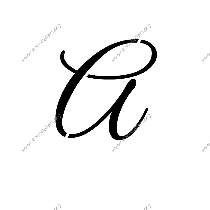Elegant Calligraphy Uppercase & Lowercase Letter Stencils A-Z 1/4 ...