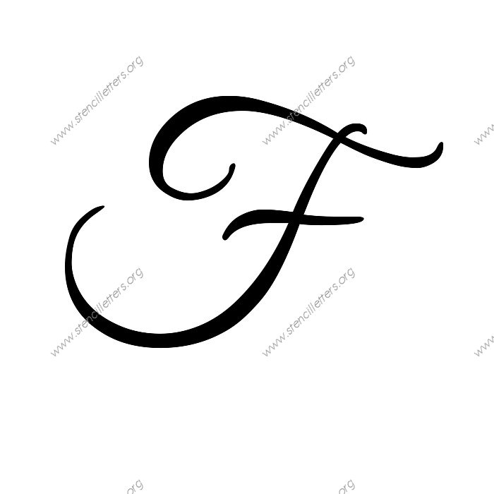 elegant calligraphy uppercase  u0026 lowercase letter stencils