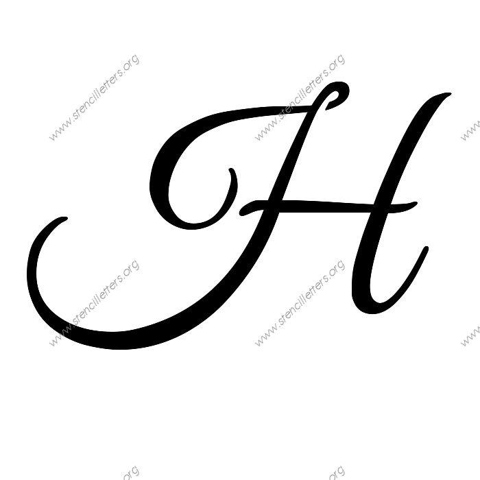 Fancy Letter H Stencil Elegant calligraphy uppercase u0026 lowercase ...