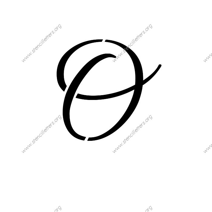 Pics for gt cursive lowercase o