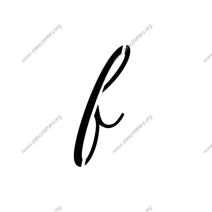 1950s Cursive Script Uppercase Lowercase Letter Stencils A Z 1 4