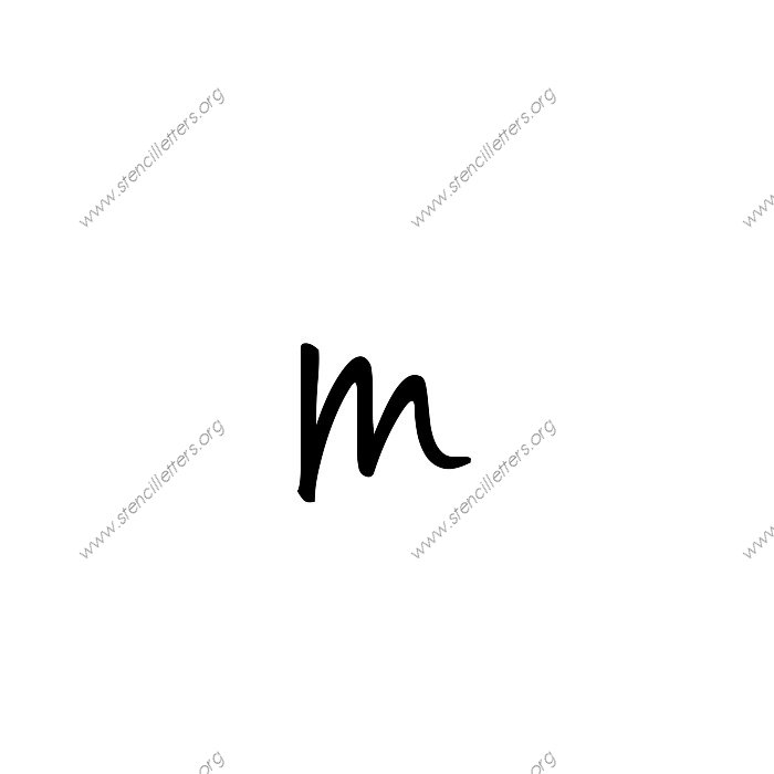 Casual Handwritten Cursive Uppercase Lowercase Letter Stencils A Z