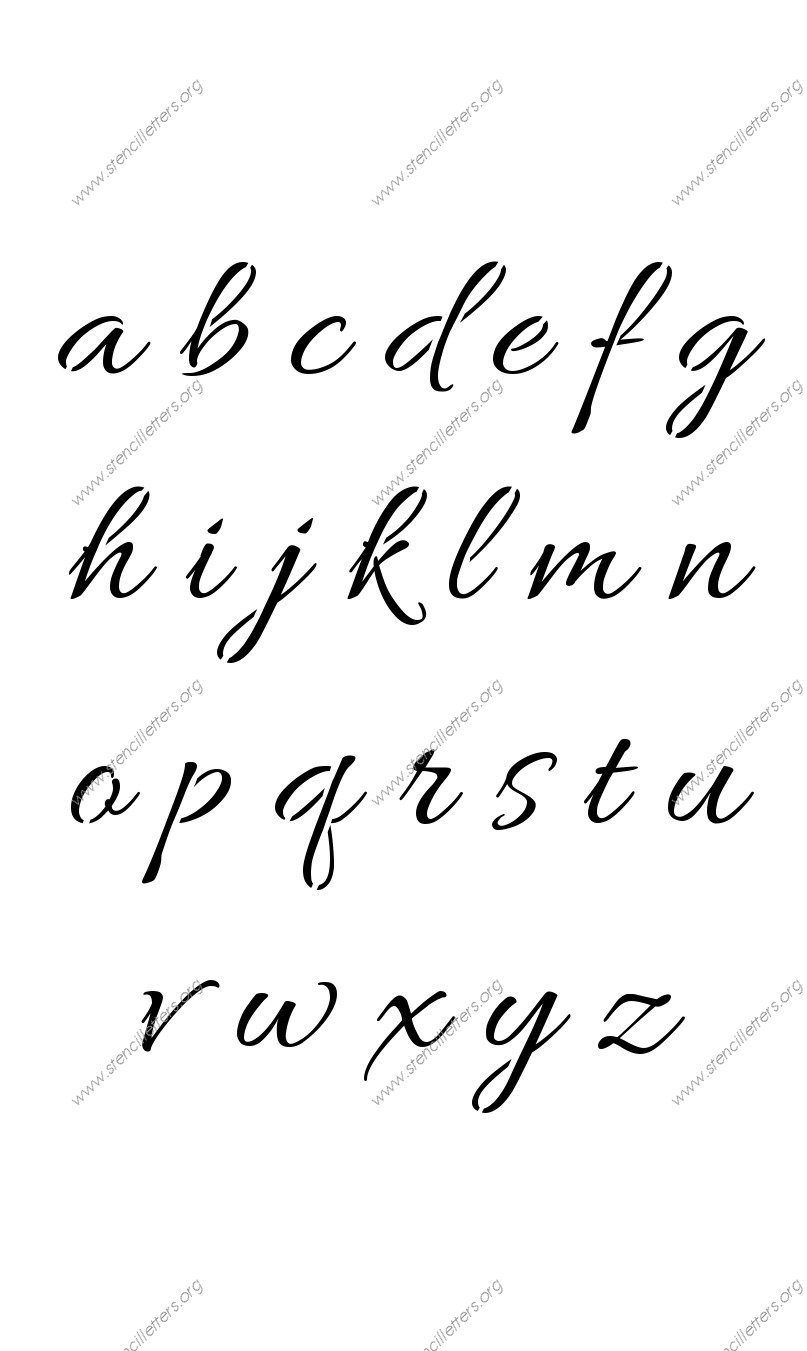 Worksheet Z Cursive connected cursive uppercase lowercase letter stencils a z 14 to stencils