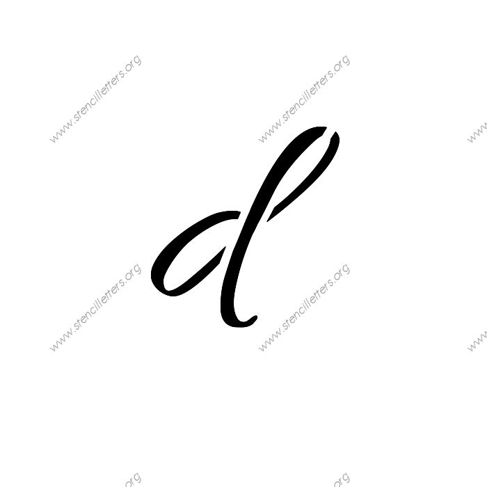 connected cursive uppercase lowercase letter stencils a z 1 4 to