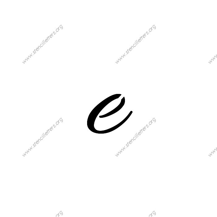 Connected Cursive Uppercase & Lowercase Letter Stencils A ...