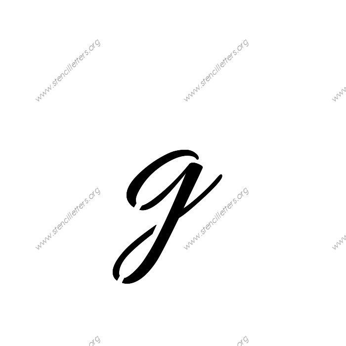 connected cursive uppercase  u0026 lowercase letter stencils a 4 to 12 inch sizes