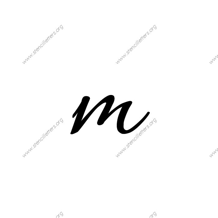 Lowercase M Connected Cursive Uppe...