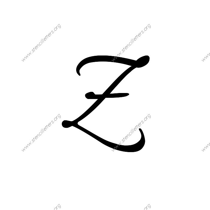 Printables Cursize Z letter z in cursive scalien connected uppercase lowercase stencils a 14 to