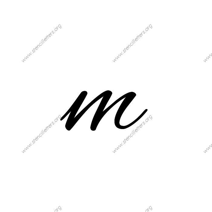 Flowing Cursive 3 Inch Uppercase Lowercase Set Alphabet Letter