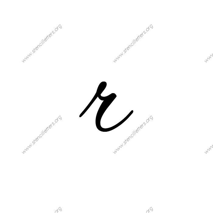 12inch stencils136 cursivelowercasestencil letter rjpg
