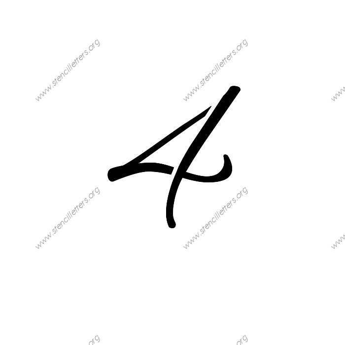 Flowing Cursive Number Stencils 0 to 9   Stencil Letters Org
