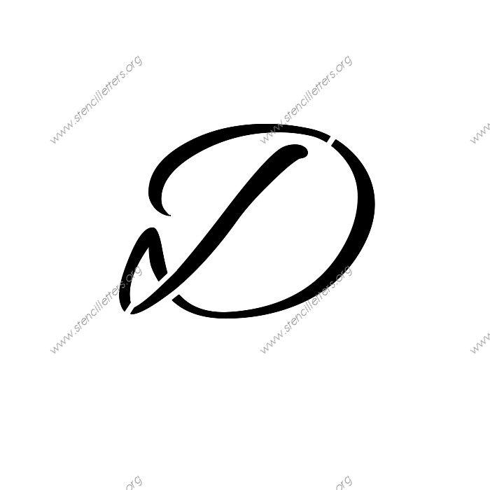 Cursive Letter D | Volvoab