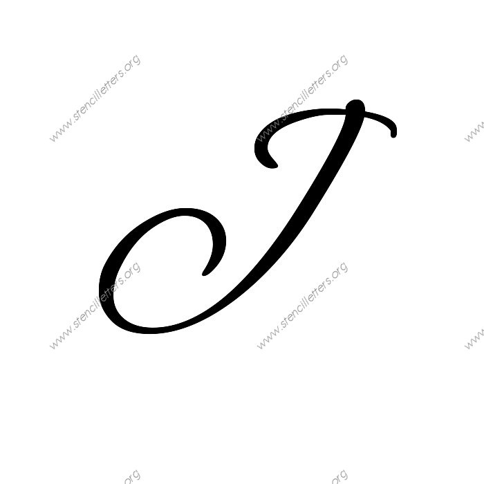 flowing cursive uppercase lowercase letter stencils a z With 12 inch letter stencils cursive
