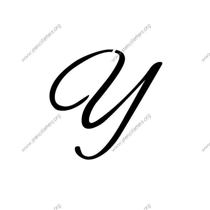 Flowing Cursive Uppercase & Lowercase Letter Stencils A-Z ...