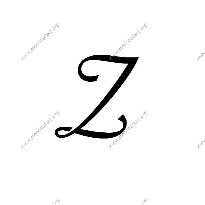 Worksheets Z In Cursive z in cursive reocurent reocurent