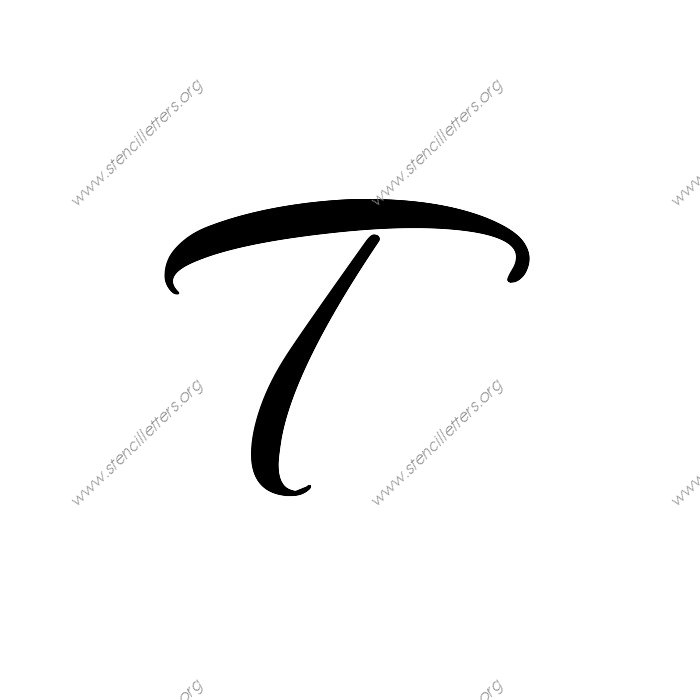 Worksheets Capital Letter T In Cursive how to write the letter t in cursive laptuoso laptuoso