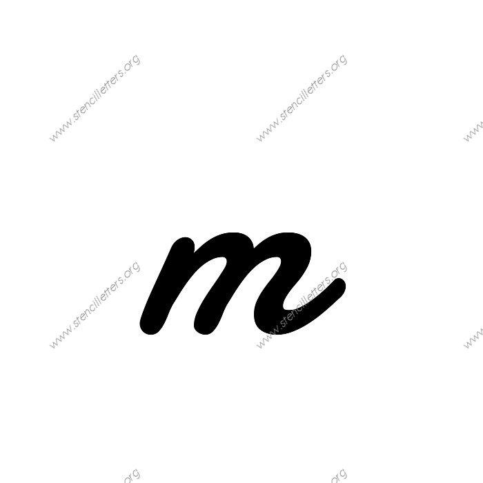 display script cursive uppercase lowercase letter stencils a z 1 4