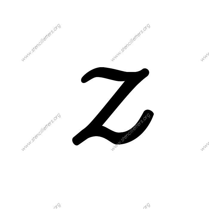 Printables Cursive Z display script cursive uppercase lowercase letter stencils a z 1 12inch stencils139 cursiveuppercasestencil letter