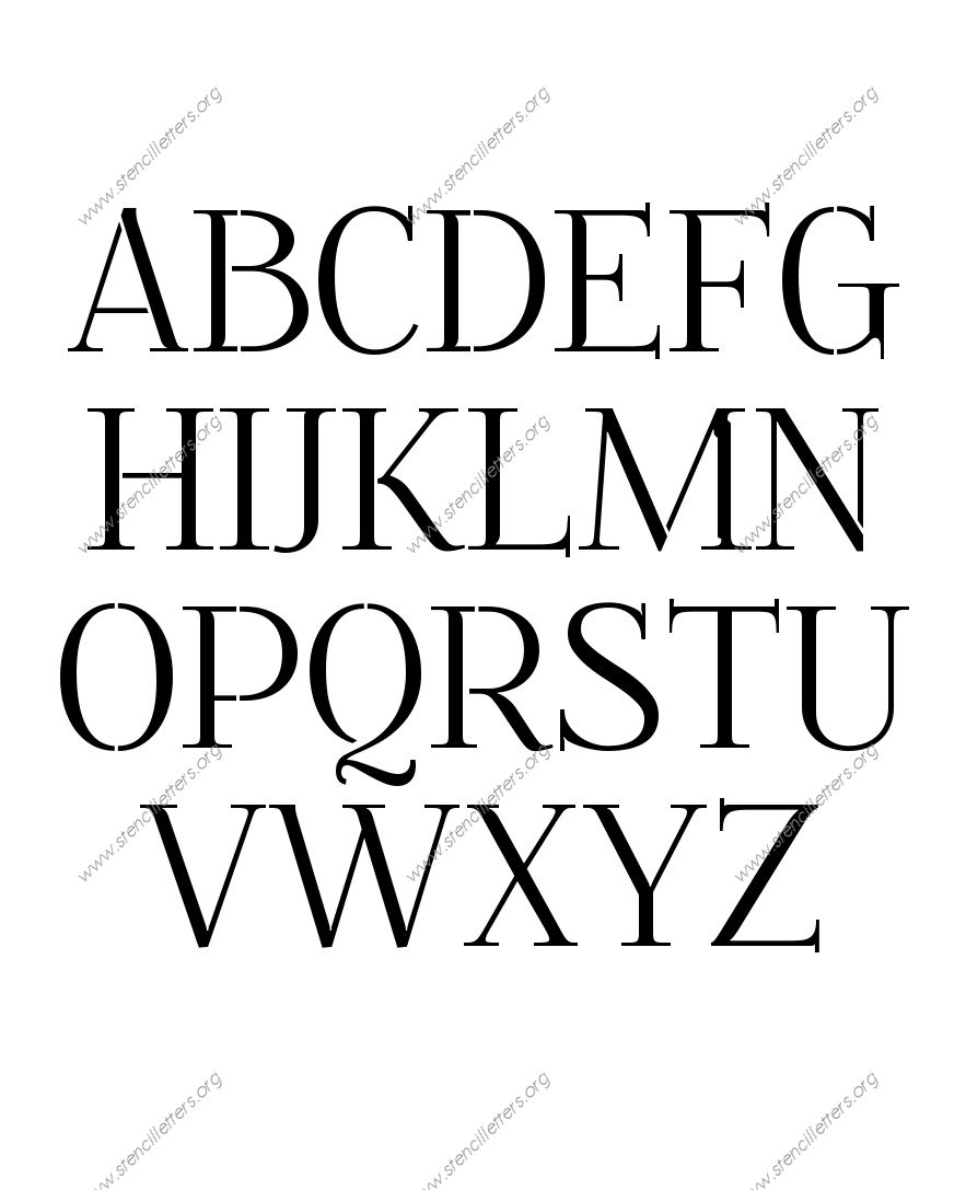 Formal Elegant Uppercase Lowercase Letter Stencils A Z 1 4 To 12