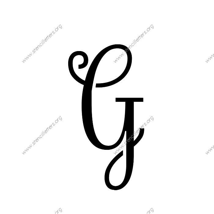 Exquisite Fine Cursive Uppercase Lowercase Letter Stencils A Z 1 4