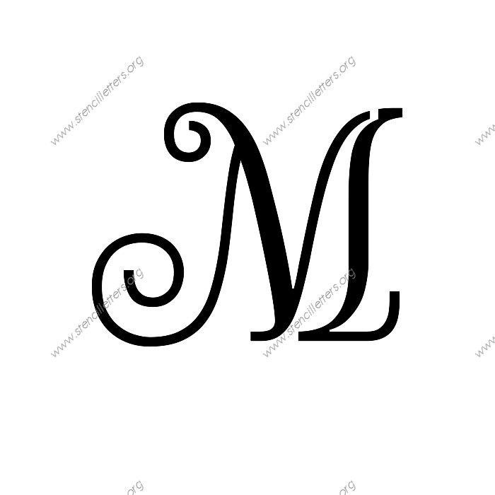 Exquisite Fine Cursive Uppercase & Lowercase Letter ...