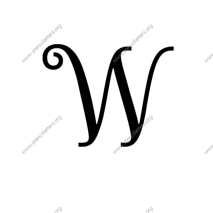 The Letter w in Cursive Exquisite Fine Cursive Letter