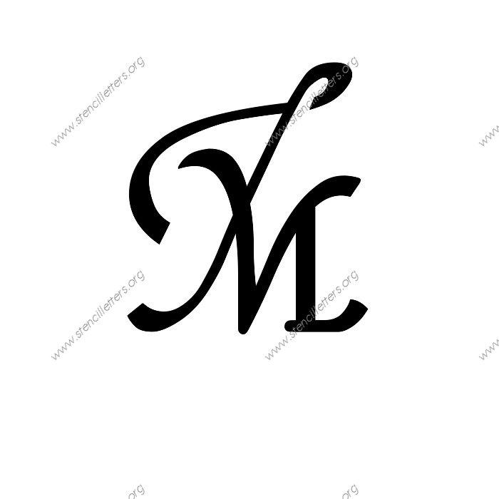 16th Century Cursive Uppercase & Lowercase Letter Stencils ...