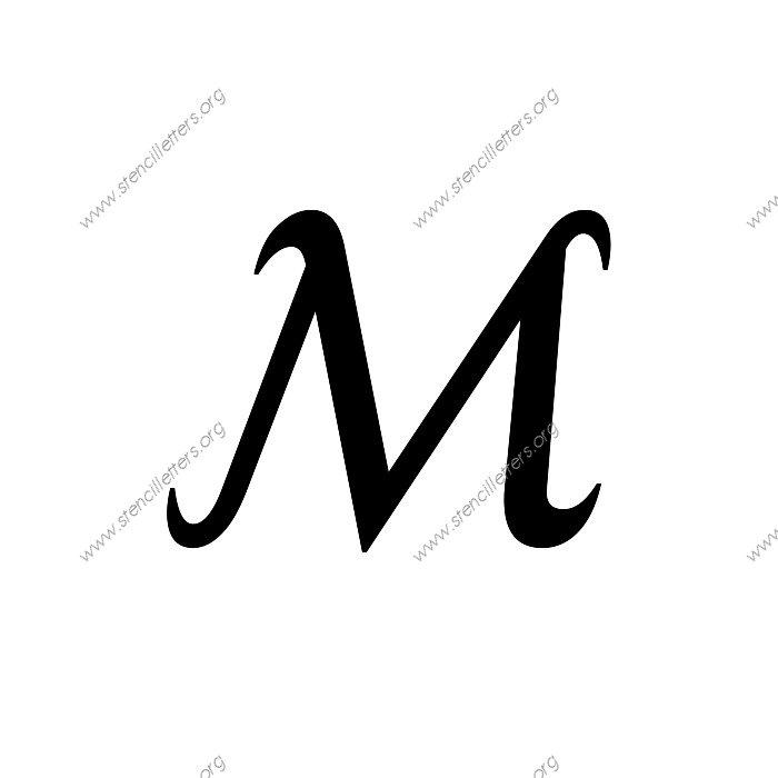 1 12inch stencils144 cursiveuppercasestencil letter