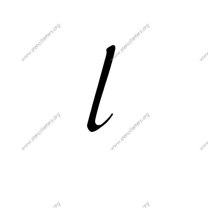Stylish Cursive Uppercase Lowercase Letter Stencils A Z