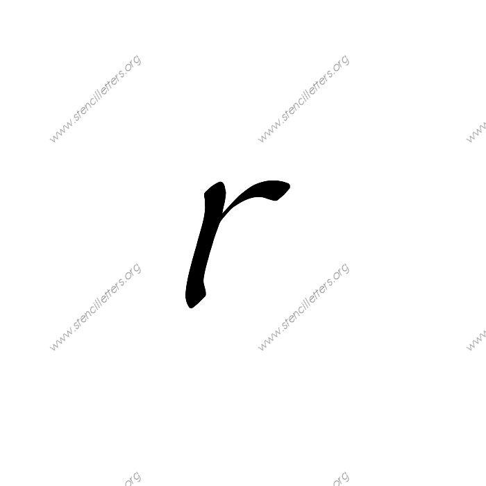 1 12inch stencils 145 cursive lowercase stencil letter. Stylish Cursive Uppercase   Lowercase Letter Stencils A Z 1 4 to