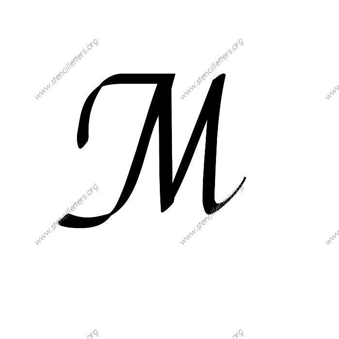 Stylish Cursive Uppercase & Lowercase Letter Stencils A-Z ...