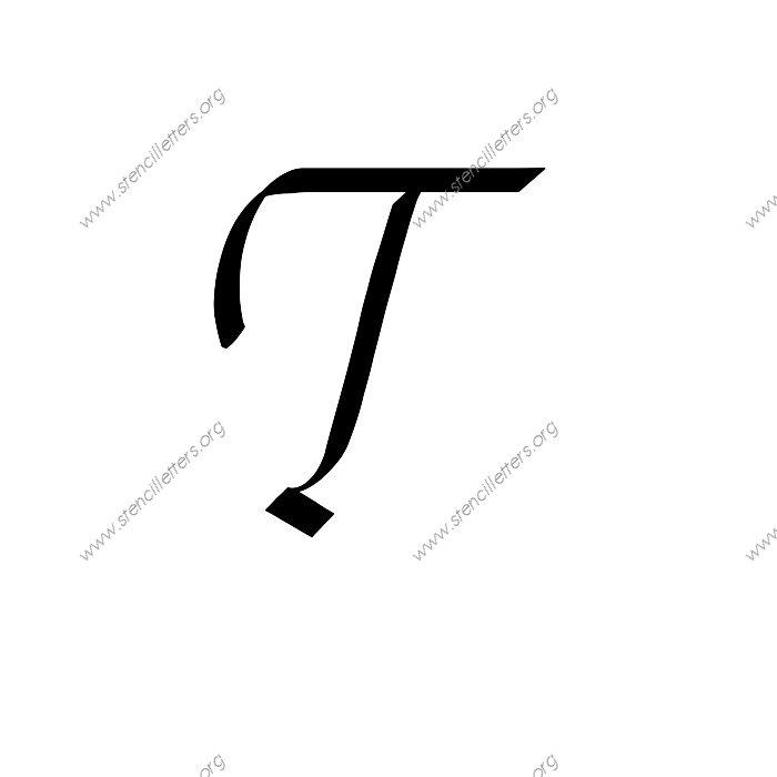 Printables Capital Letter T In Cursive stylish cursive uppercase lowercase letter stencils a z 14 to 1 12inch stencils145 cursiveuppercasestencil letter