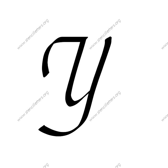 stylish cursive uppercase lowercase letter stencils a z 1 4 to 12