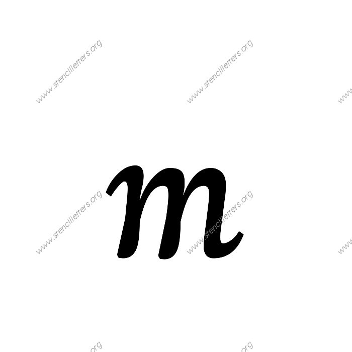 Humanist Cursive Uppercase & Lowercase Letter Stencils A-Z ...