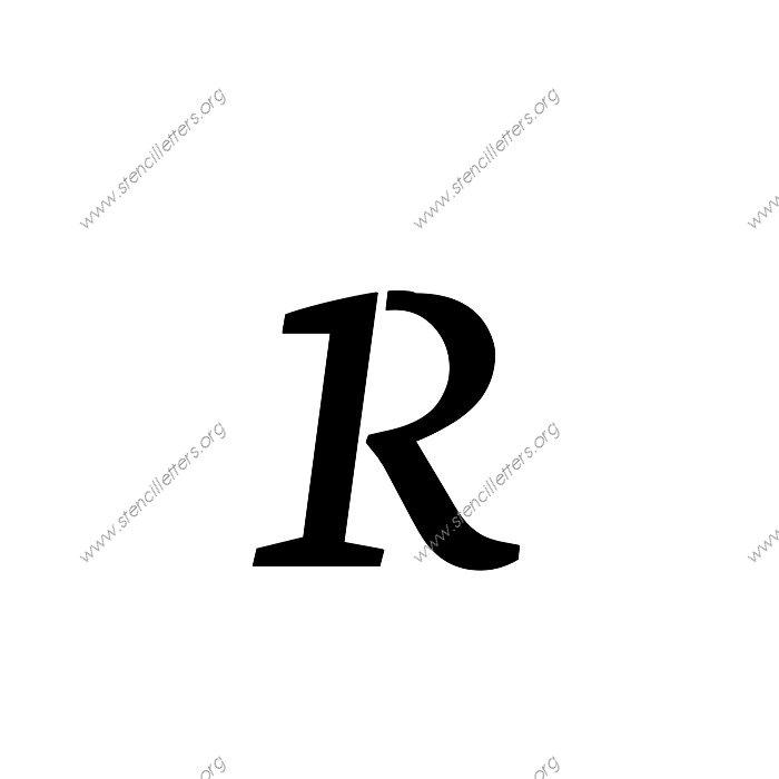 Fancy Cursive Letter R Stencil fancy lowercase r cursive stencil ...
