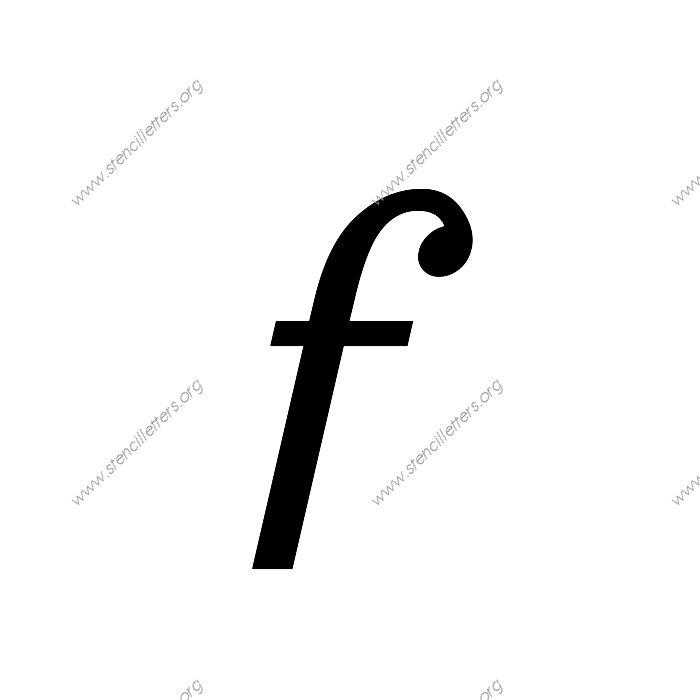 Sans Serif Cursive Uppercase Lowercase Letter Stencils A Z 1 4 To