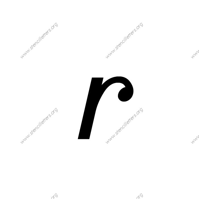 sansserif cursive uppercase amp lowercase letter stencils a