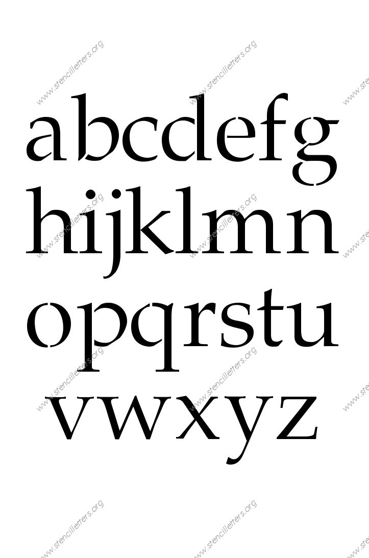 1990s Headline A to Z lowercase letter stencils