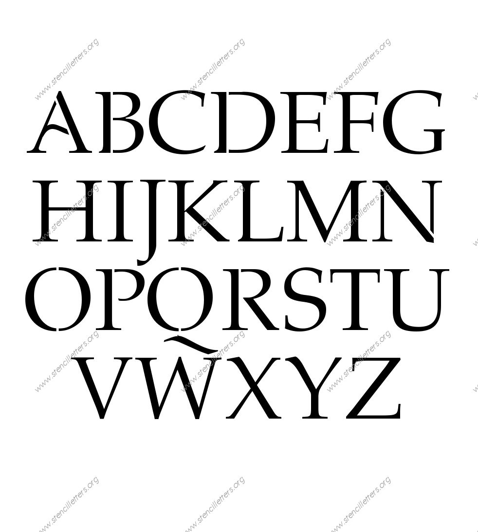 1990s Headline A to Z uppercase letter stencils